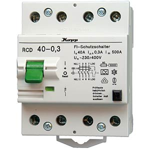 Circuit breaker, 40 A/0.3 A, 4-pin KOPP 754043018