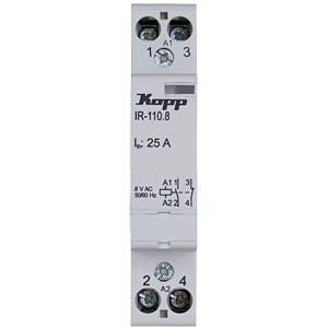 Installation relay 25 A, 8 V AC, 1x NO, 1x NC KOPP 761025010