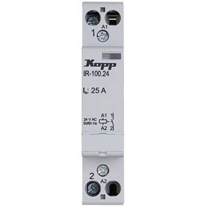Installation relay, 25 A, 24 V AC, 1x NO KOPP 761029014