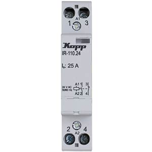 Installation relay 25 A, 24 V AC, 1x NO, 1x NC KOPP 761031013