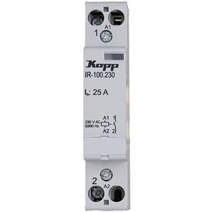 Installation relay, 25 A, 230 V AC, 1x NO KOPP 761032014