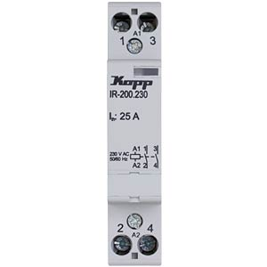 Installation relay 25 A, 230 V AC, 2x NO KOPP 761033015