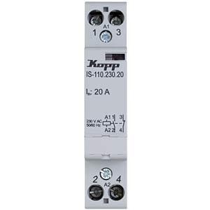 Installation contactor 20 A, 230 V, 1x NO, 1x NC KOPP 761311018