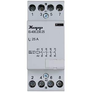 Installation contactor, 25 A, 230 V, 4xNO KOPP 761340018