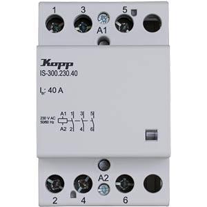 Installation contactor, 40 A, 230 V, 3xNO KOPP 761430014