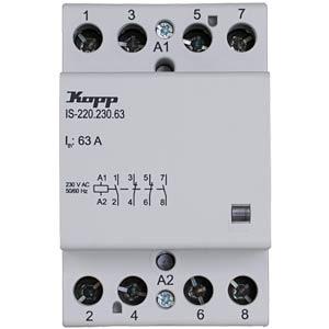 Installation contactor 63 A, 230 V, 2x NO, 2x NC KOPP 761522012