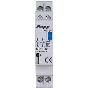 Current-surge relay, 20A, 12VAC, 1 x NO, 1 x NC KOPP 761833019