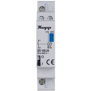 Current-surge relay, 20 A, 24 V AC, 1 x NO KOPP 761834010