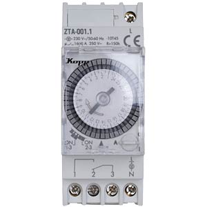Daily time switch, analogue, ZTA-001.1 KOPP 764507016