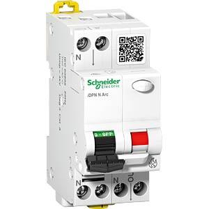 Brandbeveiligingsschakelaar + LS, iDPN N Boog, 1P+N, 16A, B-kara SCHNEIDER ELECTRIC A9FDB7616