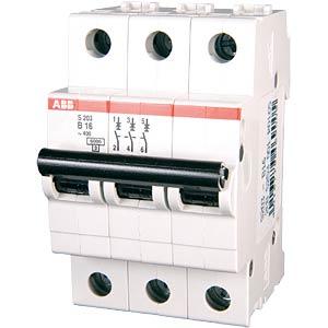 Leitungsschutzschalter, Char. B, 16 A, 3 polig ABB 458371