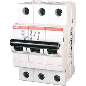 Automatic circuit breaker, 3-pin, characteristic C, 16A ABB 458398