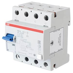 FI-Schutzschalter - 4-pol, 40 A/30 mA, Typ B ABB F204B-40/0,03