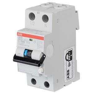 Aardlekschakelaar/stroomonderbreker - 1P+N, B 13 A/30 mA ABB DS201A-B13/0,03