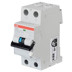 RCD/Circuit Breaker - 1P+N, B 20 A/30 mA ABB DS201A-B20/0,03