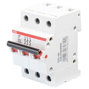 Load-break switch — 3 TE, 3 NO contacts, 80 A ABB E203/80R
