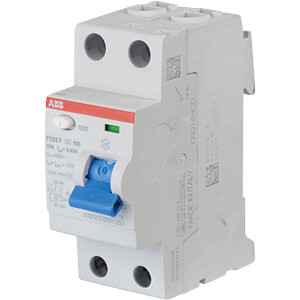 FI-veiligheidsschakelaar - 2-pol, 40 A/30 mA, type F ABB F202F-40/0,03