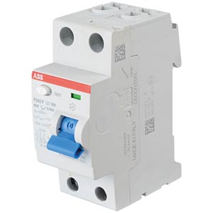 Residual current device — 2-pin, 63 A/30 mA, type F ABB F202F-63/0,03