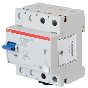 Fehlerstromschutz-Schalter, Typ B, 16 A ABB F202PVB-16/0,03