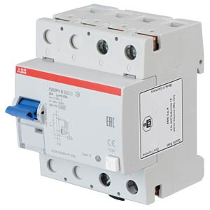 Fehlerstromschutz-Schalter, Typ B, 25 A ABB F202PVB-25/0,03