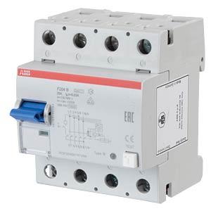 FI-Schutzschalter - 4-pol, 25 A/30 mA, Typ B ABB F204B-25/0,03
