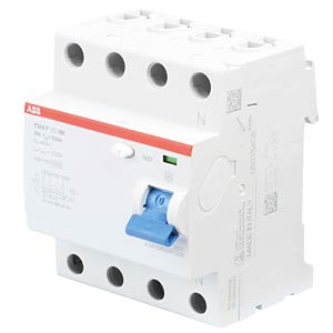 Residual current device — 4-pin, 25 A/30 mA, type F ABB F204F-25/0,03