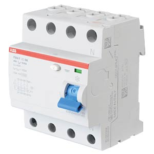 Residual current device — 4-pin, 40 A/30 mA, type F ABB F204F-40/0,03