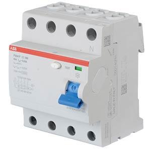Fehlerstromschutz-Schalter, Typ F, 63 A, 4 polig ABB F204F-63/0,03