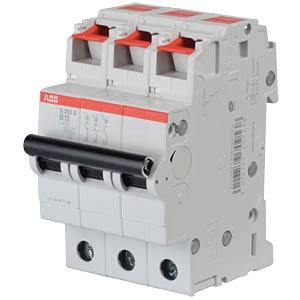 Circuit Breaker - B 13 A, 3-Pole, 6 kA ABB S203S-B13