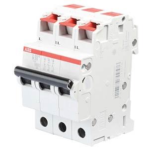 Leitungsschutzschalter, Char. B, 20 A, 3 polig ABB S203S-B20