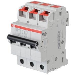Zekeringautomaat - B 6 A, 3-polig, 6 kA ABB S203S-B6