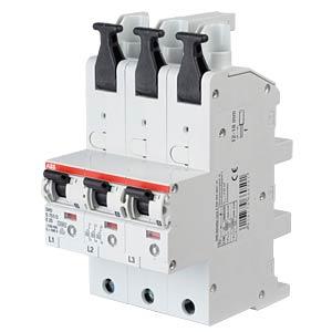 Automatic Main Circuit Breaker - Selective, 3 x 1-Pole, 25 A ABB S751/3-E25