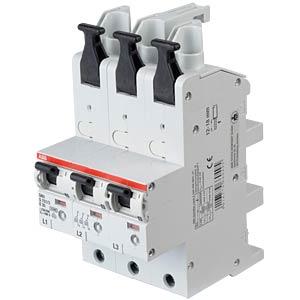 Hoofdzekeringautomaat - selectief, 3 x 1-polig, 35 A ABB S751/3-E35