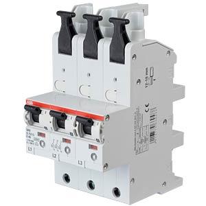 Hauptsicherungsautomat - selektiv, 3 x 1-pol, 40 A ABB S751/3-E40