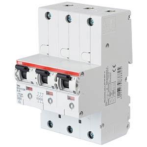 Automatic Main Circuit Breaker - Selective, 3 x 1-Pole, 25 A ABB S751/3DR-E25