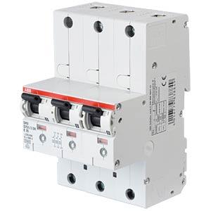 Hauptsicherungsautomat - selektiv, 3 x 1-pol, 35 A ABB S751/3DR-E35
