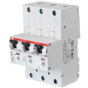 Hoofdzekeringautomaat - selectief, 3 x 1-polig, 63 A ABB S751/3DR-E63