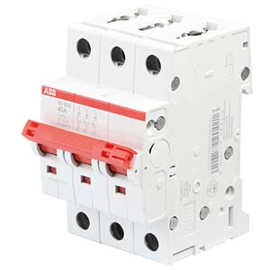 Load-break switch — 3 TE, 3 NO contacts, 40 A ABB SD203/40
