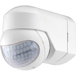 Infrared motion detector, 200° range, white GEV 18235