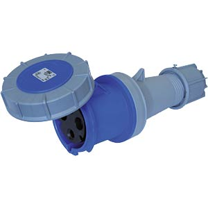 CEE coupling, 230 V, 32 A, blue PC ELECTRIC 223-6