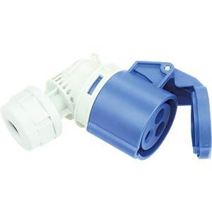 CEE-Kupplung, gewinkelt, 230V, 16A, blau PC ELECTRIC 8213-6