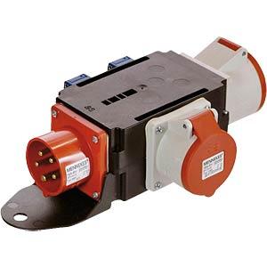 CEE distributor, 1 plug/2 sockets/2 plug sockets FREI