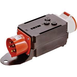 CEE-Verteiler, 1 Stecker/1 Dose/3G-Sicherung FREI
