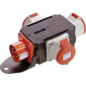CEE-Verteiler, 1 Stecker/3 Steckdosen FREI