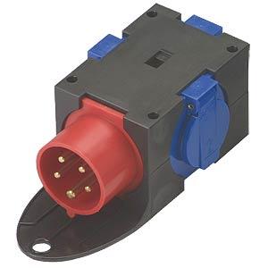 CEE-Verteiler, 3 Schutzkontakt - Steckdosen PC ELECTRIC 140002