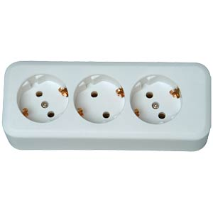 Three-way socket outlet without cable, strip FREI