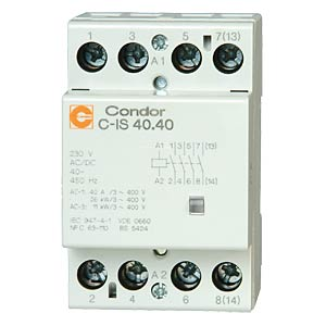 Installation contactors C-IS, 40 A, 4 normally open contacts CONDOR GMBH 3189300