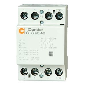 Installation contactors C-IS, 63 A, 4 normally open contacts CONDOR GMBH 3189400