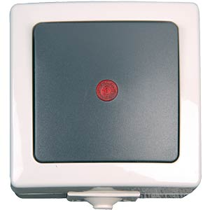 Surface-mounted wet room switch, control switch KOPP 5666.5600.2
