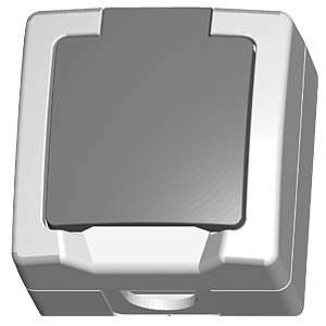 Surface-mounted wet room earthed switch, one-way KOPP 1078.5600.5